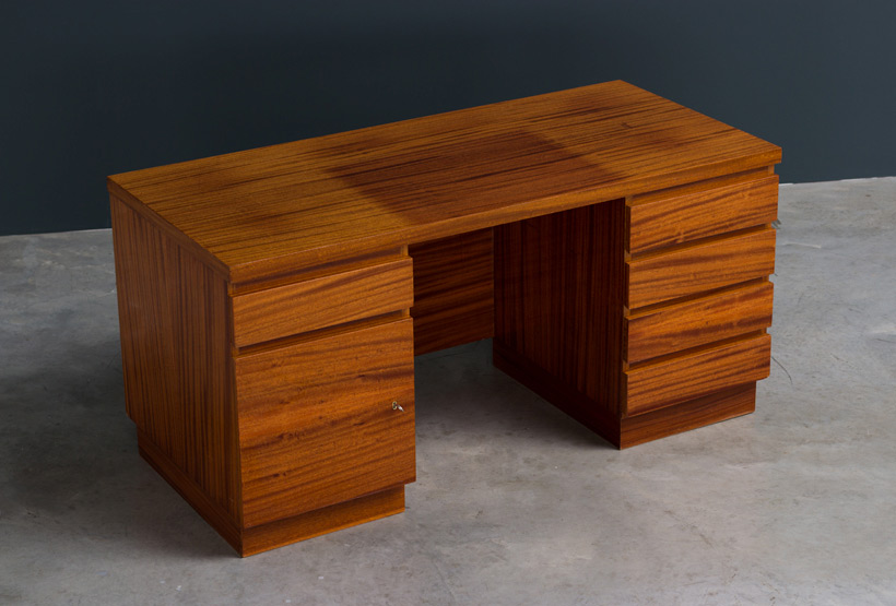 Modernist wooden desk in the spirit of David Hicks img 4