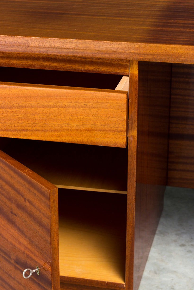 Modernist wooden desk in the spirit of David Hicks img 5