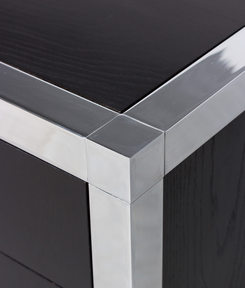 Monolith black chromed rectangular desk 1970 img 6