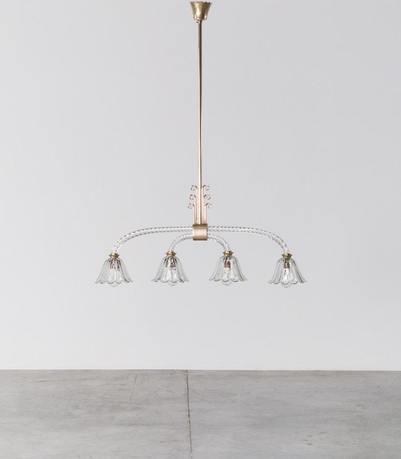 Murano glass chandelier by Archimede Seguso 1930 img 3