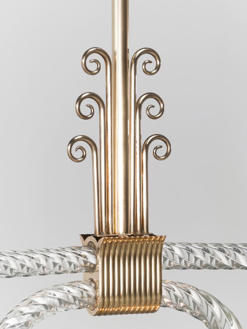 Murano glass chandelier by Archimede Seguso 1930 img 4