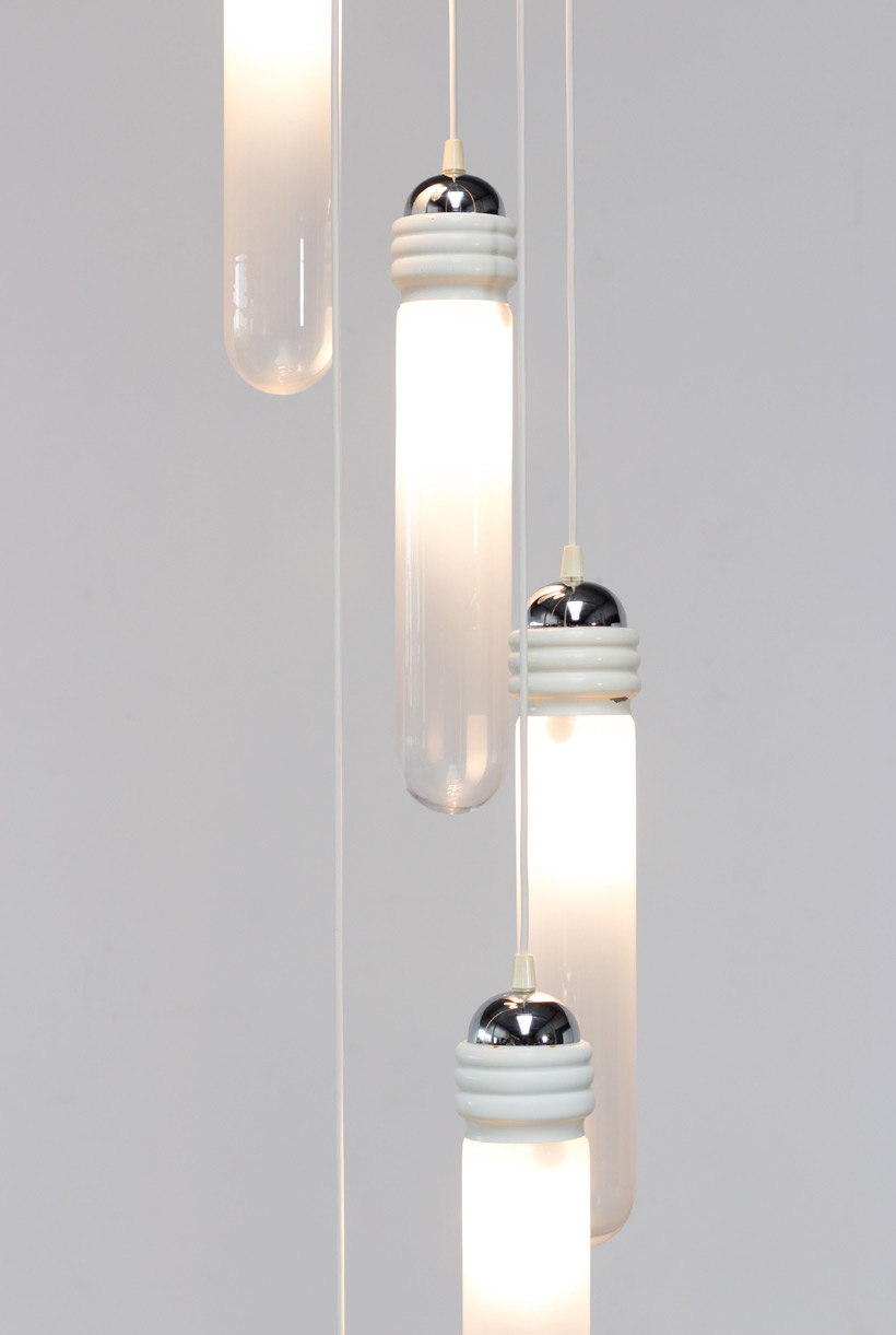 Murano glass chandelier light pendant by Mazzega img 6