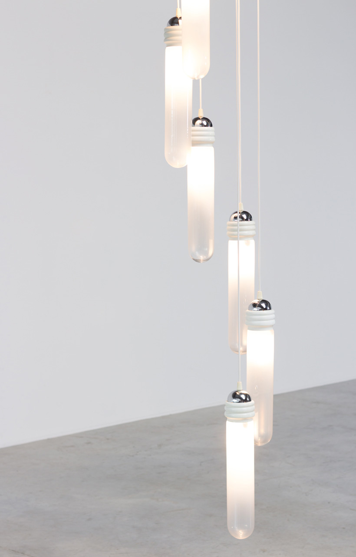 Murano glass chandelier light pendant by Mazzega img 7