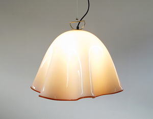 Murano hand blown glass ceiling lamp