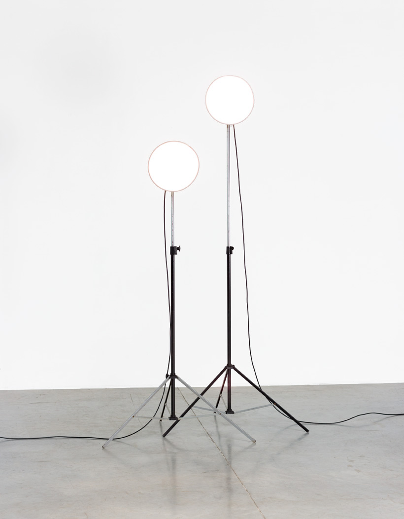 Narita pair industrial photographic studio lamps