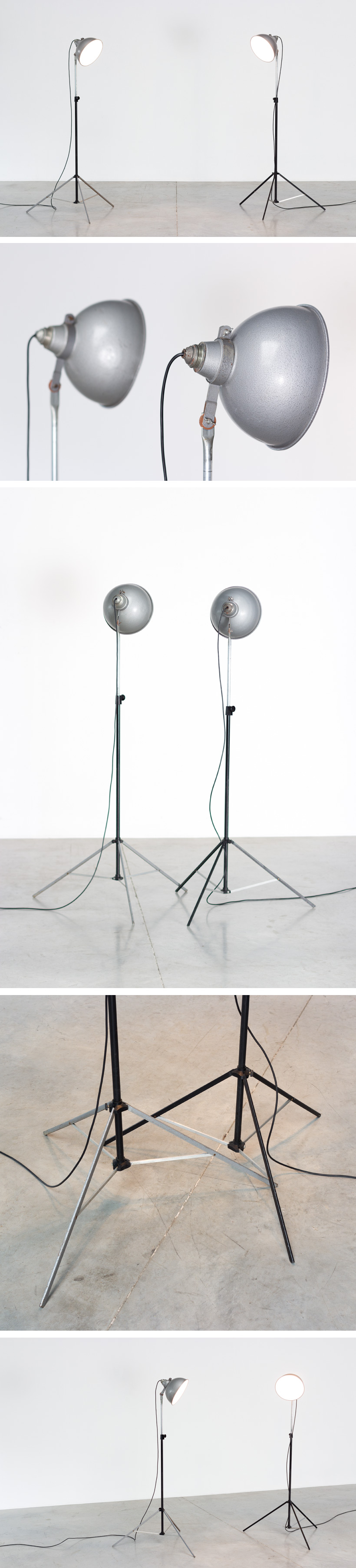 Narita pair industrial photographic studio lamps Large