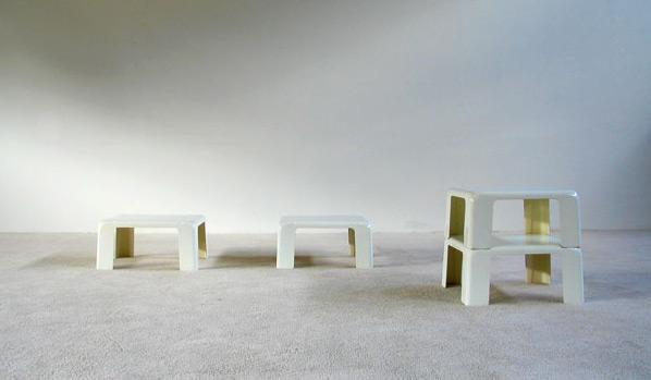 Nesting tables Quattro Gatti Mario Bellini C&B