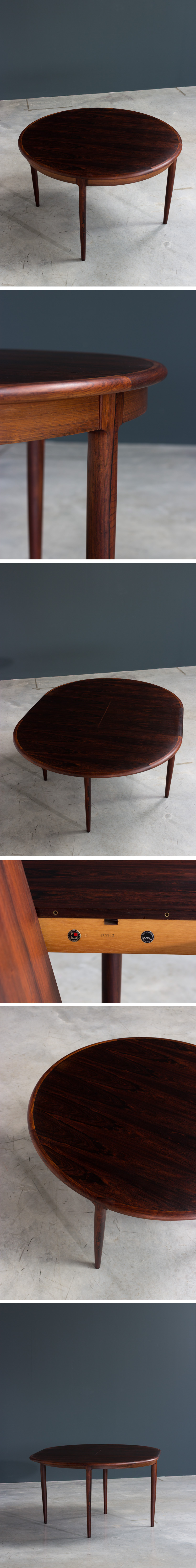 Niels Moller Brazilian Rosewood Danish dining table Large