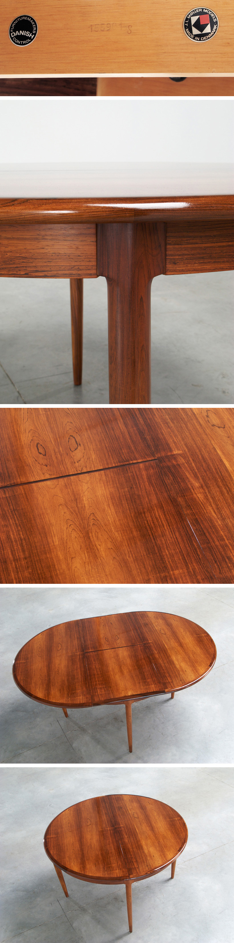 Niels Moller Brazilian Rosewood dining table Large