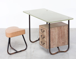 Office desk or writing desk attributed to Pierre Guariche 1950