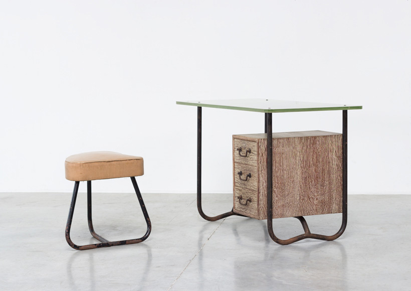 Office desk or writing desk attributed to Pierre Guariche 1950 Large