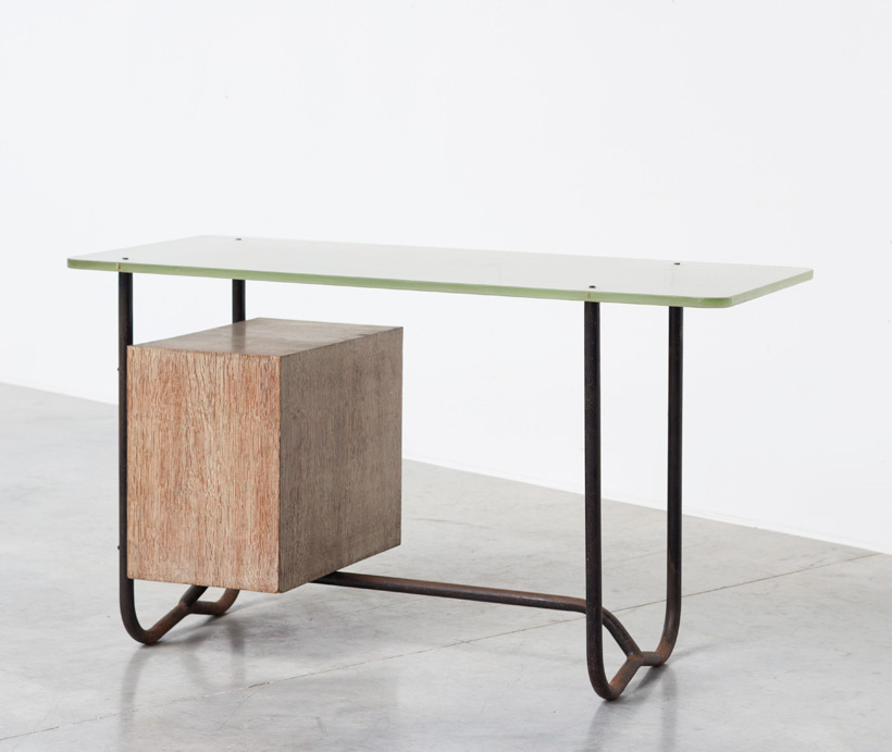 Office desk or writing desk attributed to Pierre Guariche 1950 img 4