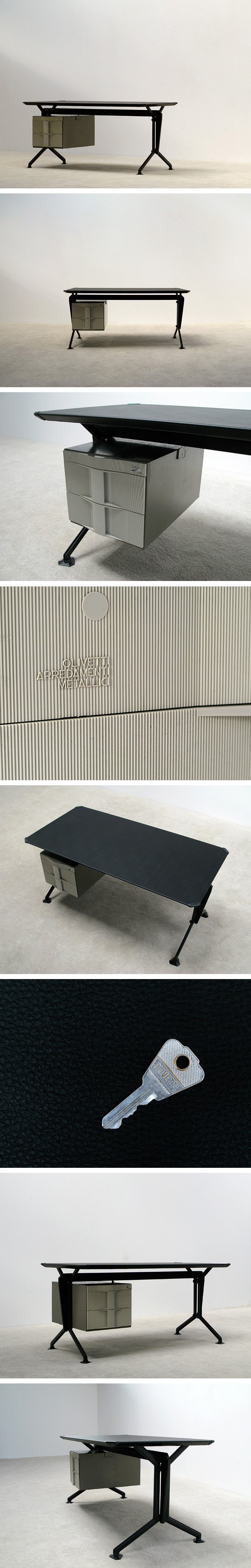 Office writing desk Studio BBPR Olivetti Arco 1963 Large