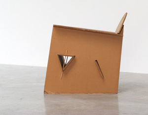 Olivier Leblois Kiosk chair or cardboard chair