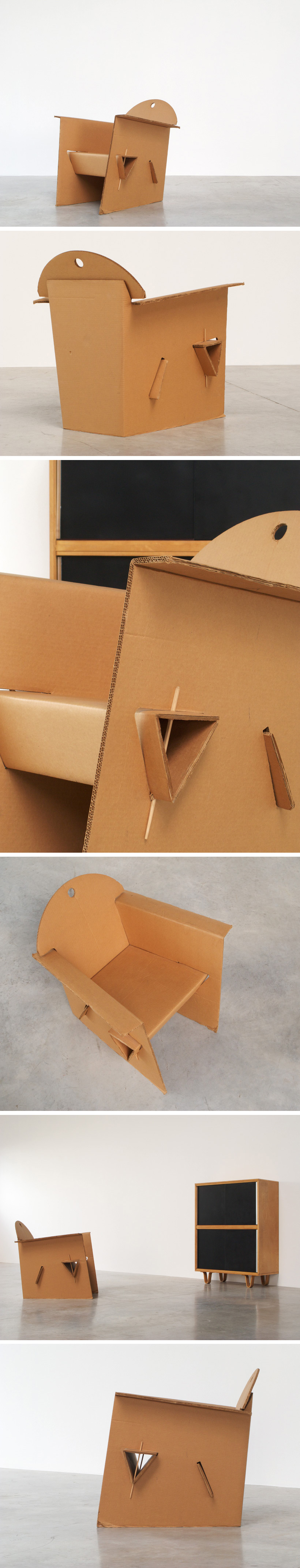 Olivier Leblois Kiosk chair or cardboard chair Large