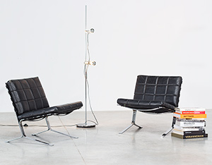 Olivier Mourgue pair Joker chairs Airborne 1960
