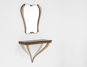Osvaldo Borsani console and mirror