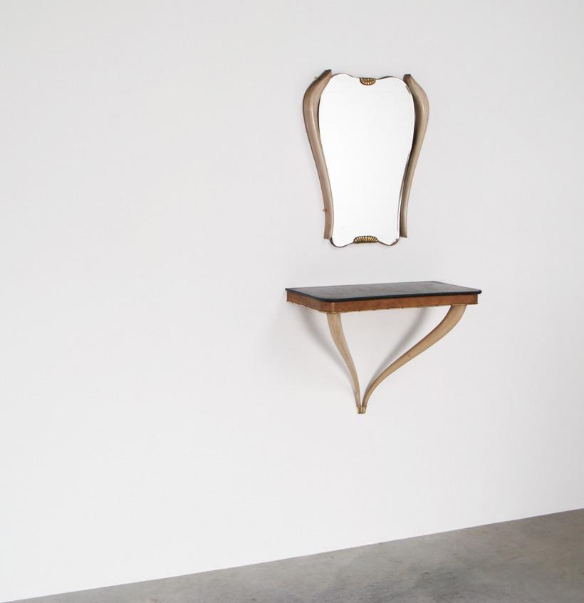 Osvaldo Borsani console and mirror