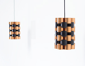 Pair Danish pendant lights made in Denmark 1960