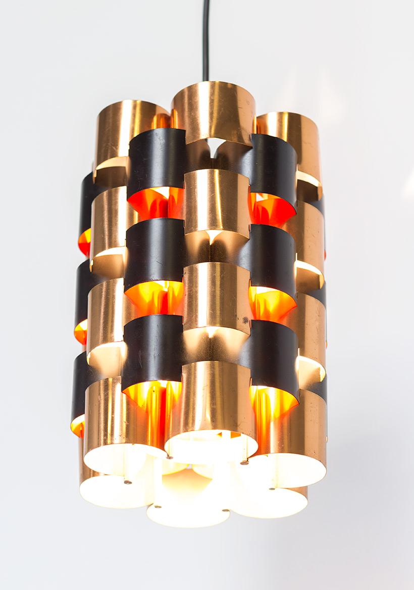 Pair Danish pendant lights made in Denmark 1960