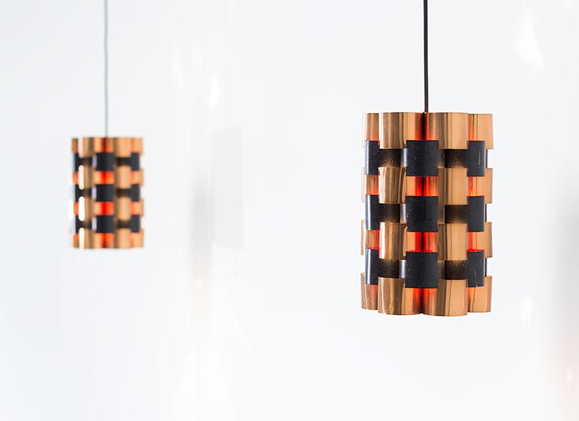Pair Danish pendant lights made in Denmark 1960 img 6