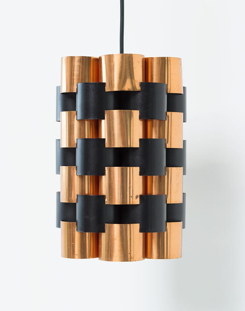 Pair Danish pendant lights made in Denmark 1960 img 8