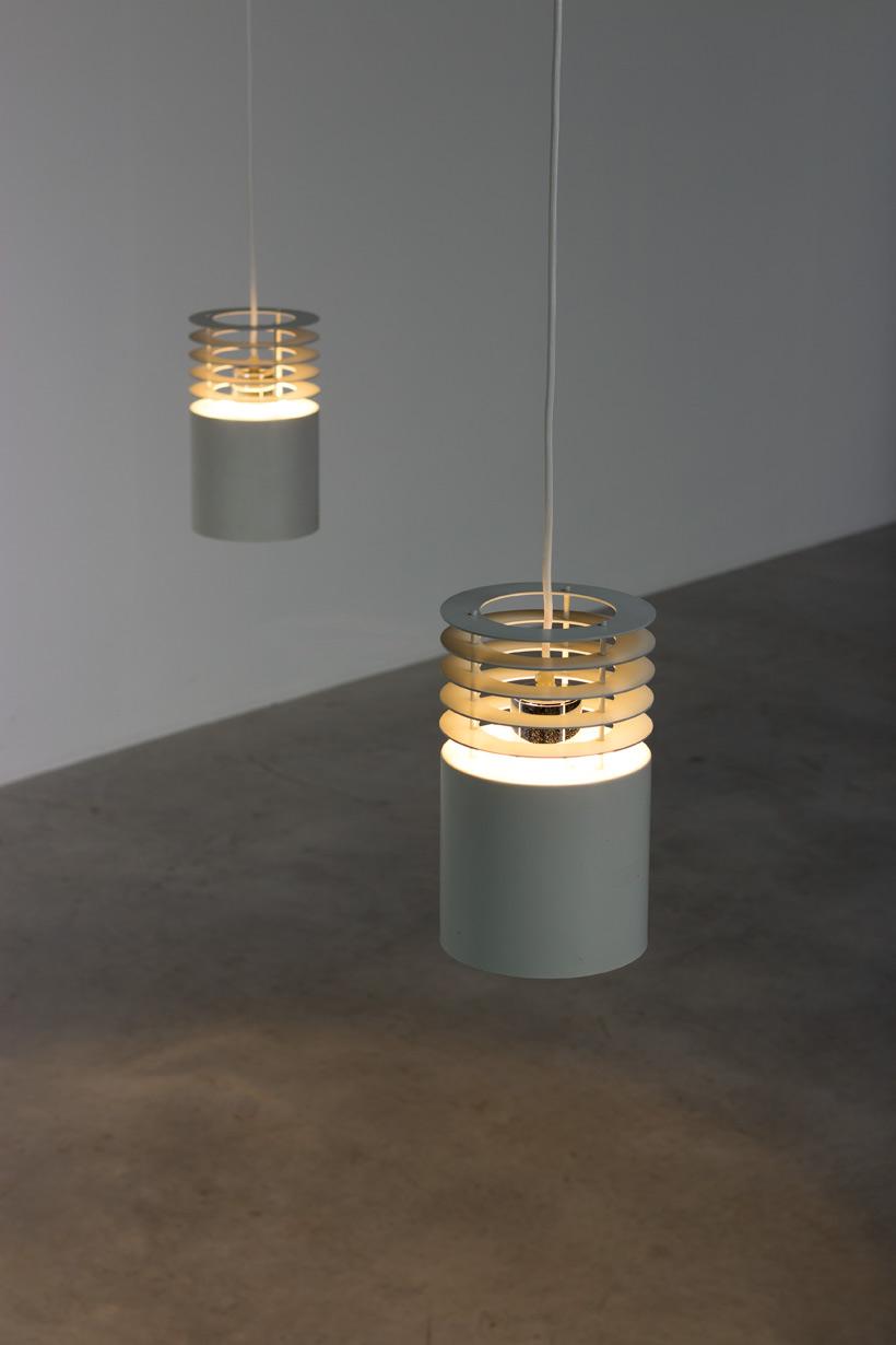 Pair Jo Hammerborg off white ceiling lamps Fog and Murop