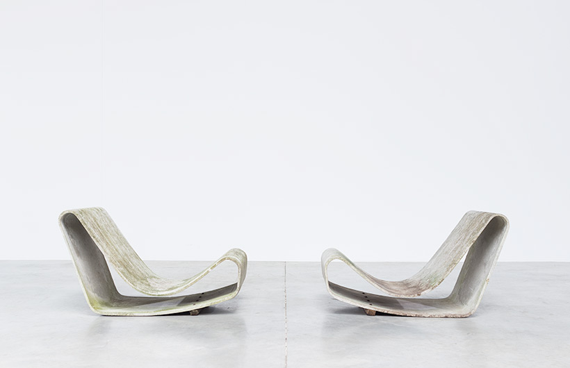 Pair Modern Concrete loop chairs by Willy Guhl Eternit AG 1954 img 5