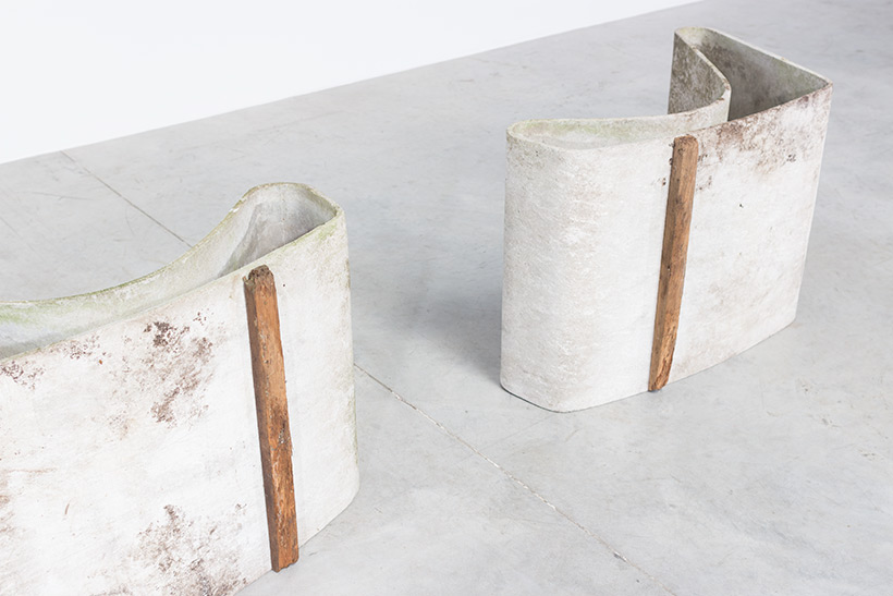 Pair Modern Concrete loop chairs by Willy Guhl Eternit AG 1954 img 7