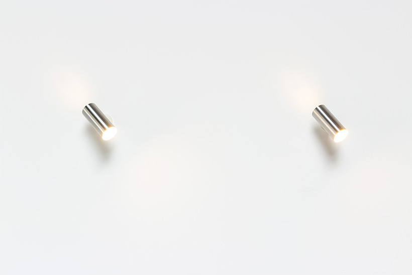 Pair modernist brushed metal cylinder sconces circa 1970 img 3