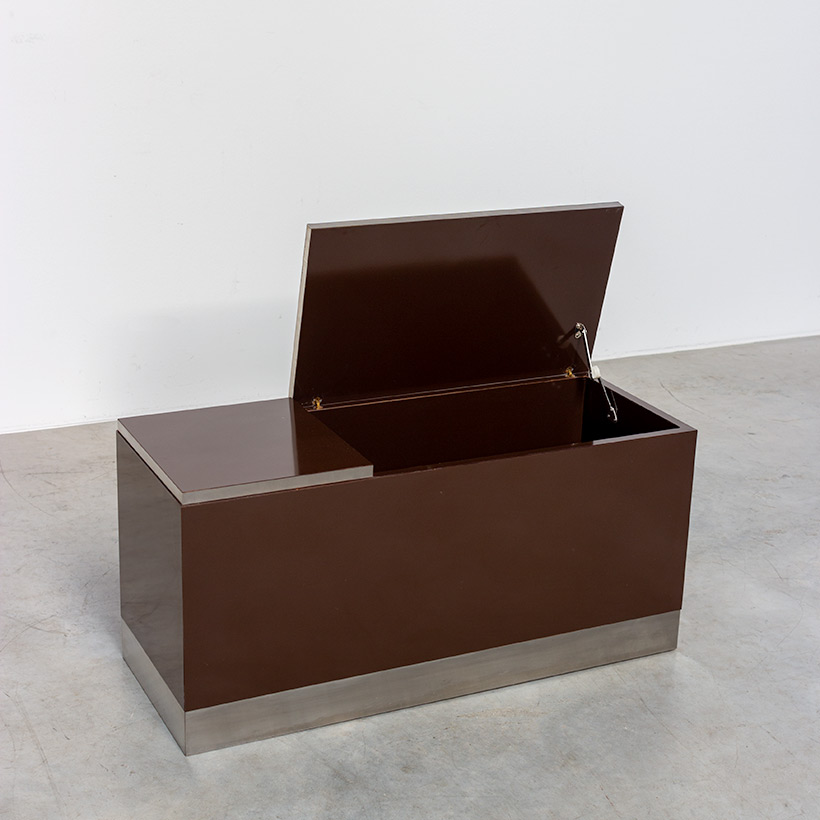 Pair modernist storage boxes attributed to Willy Rizzo 1970 img 6