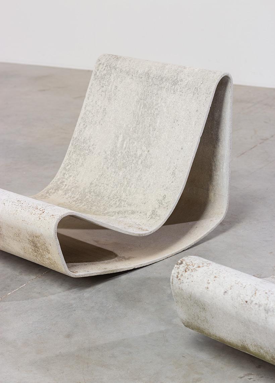 Pair modernist Willy Guhl lounge loop chairs Eternit AG 1954 Switzerland img 4