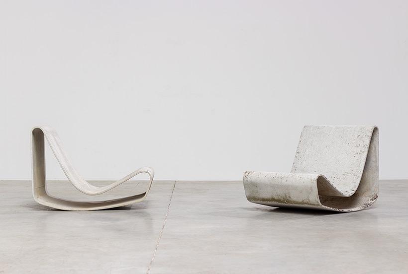 Pair modernist Willy Guhl lounge loop chairs Eternit AG 1954 Switzerland img 5