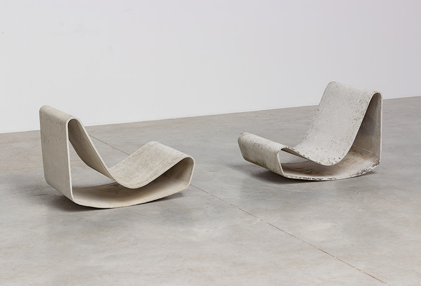 Pair modernist Willy Guhl lounge loop chairs Eternit AG 1954 Switzerland img 6