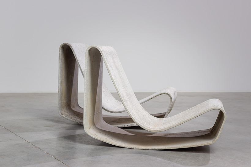 Pair modernist Willy Guhl lounge loop chairs Eternit AG 1954 Switzerland img 7