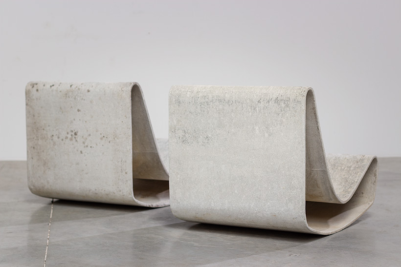 Pair modernist Willy Guhl lounge loop chairs Eternit AG 1954 Switzerland img 8
