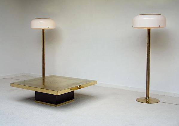 Pair of brass floor lamps Anders Pehrson Atelier Lyktan