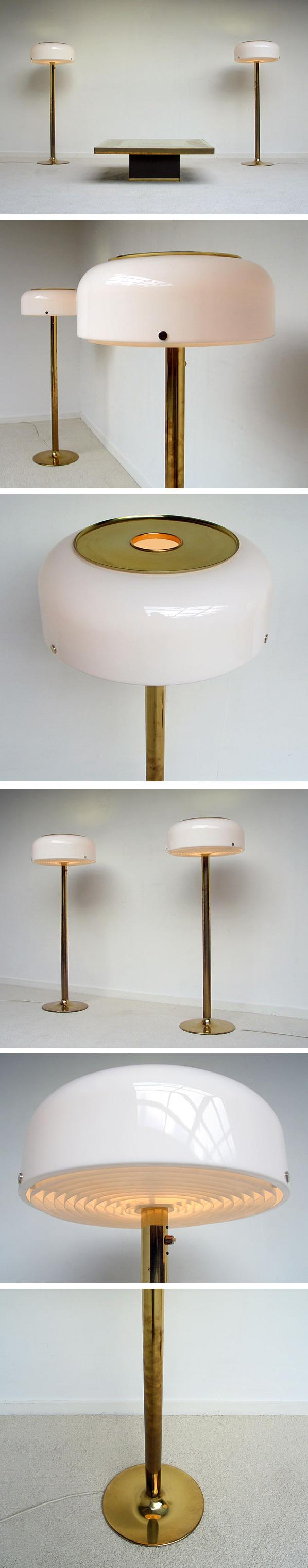 Pair of brass floor lamps Anders Pehrson Atelier Lyktan Large