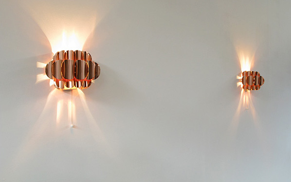 Pair of copper wall sconces Thorsten Orrling