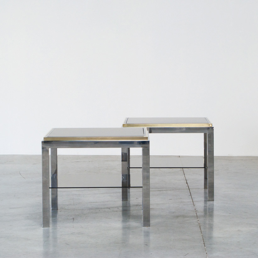 Pair of flaminia side tables signed Willy Rizzo