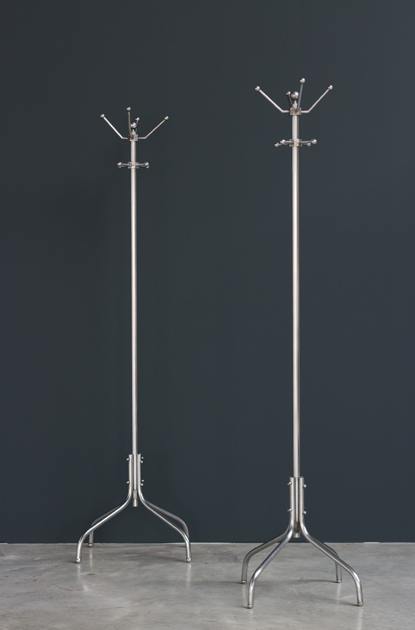 Pair of Machine Age Coat Stands for General Motors Continental