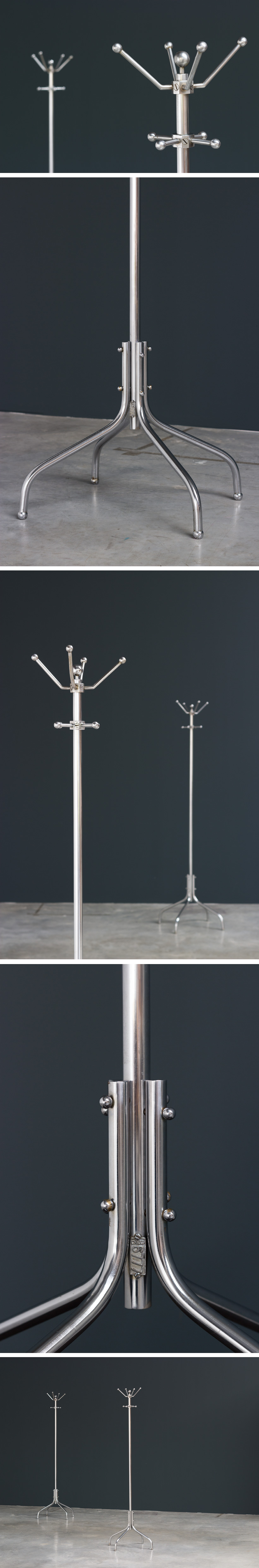 Pair of Machine Age Coat Stands for General Motors Continental Large