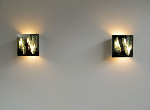 Pair of mirror wall sconces Raak