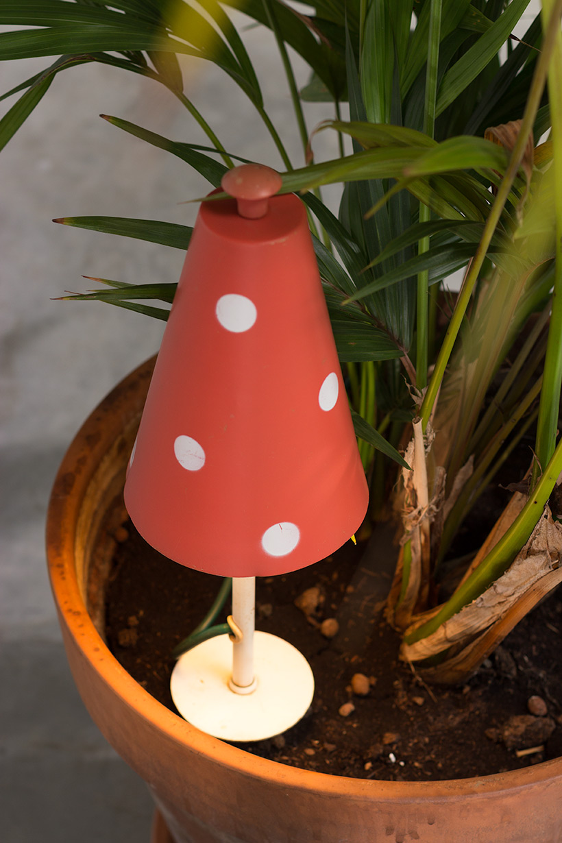 Pair of Mushroom floral lamps Philips 1950 img 4