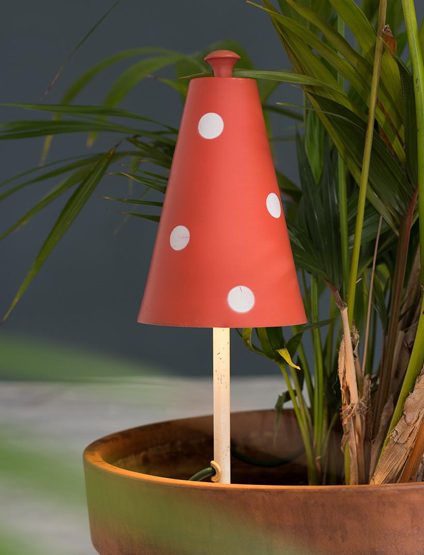 Pair of Mushroom floral lamps Philips 1950 img 6