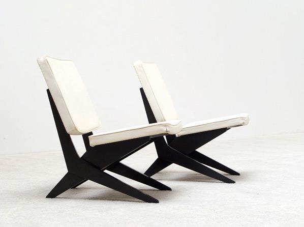 Pair of Peter van Grunsven side chairs