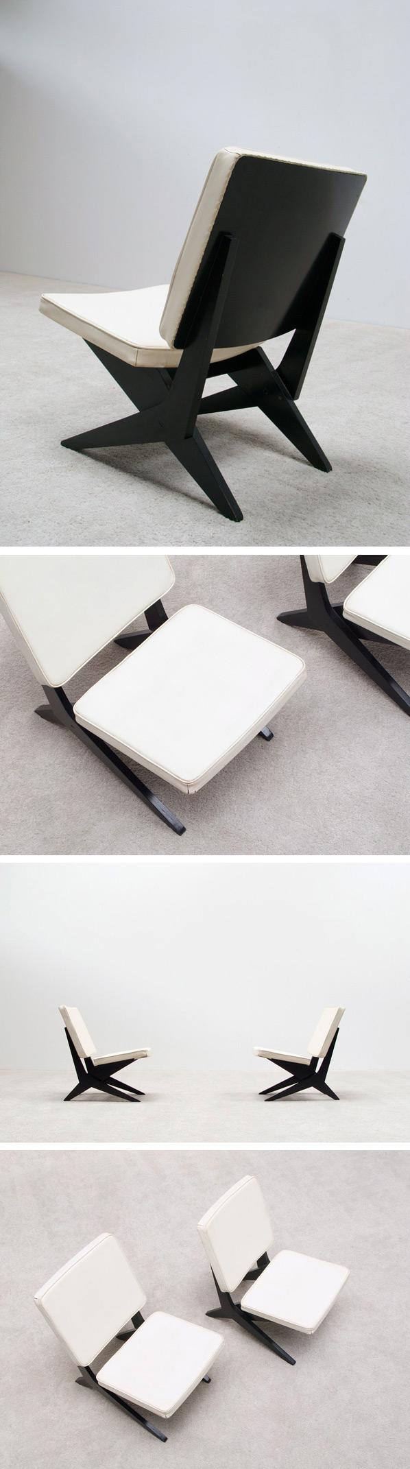 Pair of Peter van Grunsven side chairs Large