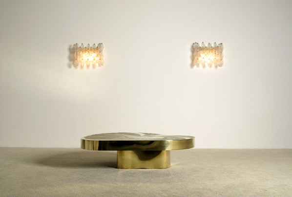 Pair of Polyhedron shaped Venini sconces Carlo Scarpa