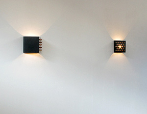Pair of Raak Clair obscure wall sconces