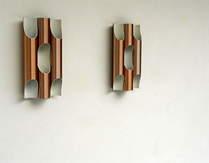 Pair of Raak Fuga organ pipes sconces